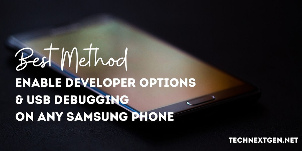 enable developer options android samsung