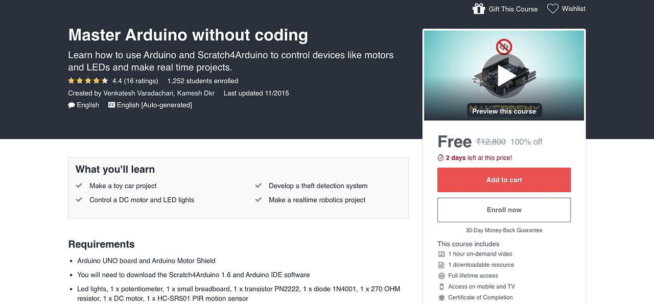 Master Arduino without coding