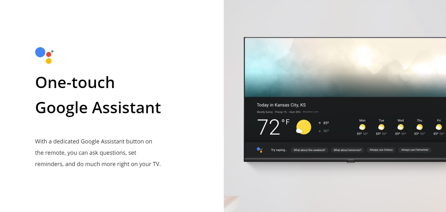 Realme Smart TV Google Assistant