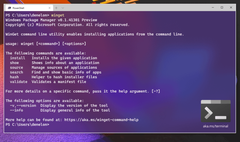 Windows 10 own buiit-in Package Manager